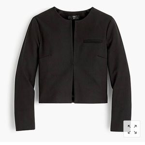 J. Crew Collarless Cropped Jacket